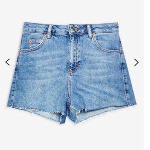 Topshop Blue Denim Mom Shorts -Size 6- $60